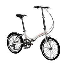 """Bicicleta Dobrável Aro 20"""" e 6 Marchas Prata - Durban Rio - Nautika"""