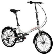 Bicicleta Dobrável Aro 20 e 6 Marchas Prata - Durban Rio -