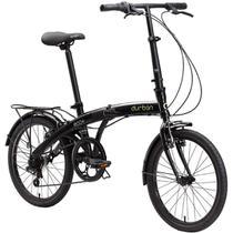 Bicicleta Dobrável Aro 20 e 6 Marchas Preta - Durban Eco+ -
