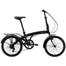 "Bicicleta Dobrável Aro 20"" e 6 Marchas Preta - Durban Eco+ -"