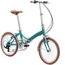 Bicicleta Dobrável Aro 20'' e 6 Marchas Turquesa - Durban Rio -
