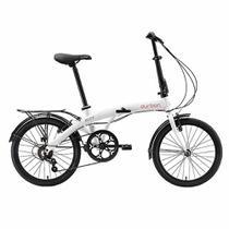"Bicicleta Dobrável Aro 20"" Eco+ C 6 Marchas Branco - DURBAN -"