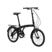 Bicicleta Dobrável Durban Aro 20 6 Vel. Shimano Eco+ Preto -