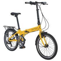 Bicicleta Dobrável Durban Aro 20 com 7 Vel. Shimano Amarelo -