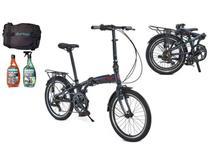 Bicicleta Dobrável Durban Aro 20 De 6 Vel Shimano Sampa Pro -