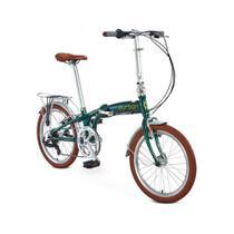"Bicicleta dobrável Durban aro 20"" de 6 velocidades Shimano e quadro de alumínio Sampa Pro -"