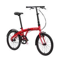 """Bicicleta dobrável Durban aro 20"""" e com quadro de aço Eco Vermelho - Nautika"""