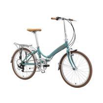 "Bicicleta dobrável Durban aro 24"" de 6 velocidades Shimano e quadro de alumínio Rio XL -"