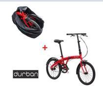 Bicicleta Dobravel Durban Eco Vermelha aro 20 com Bolsa de Transporte Preta - Nautika