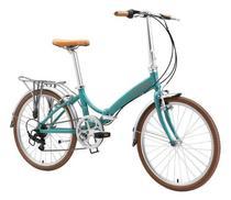 Bicicleta dobravel durban rio xl turquesa -