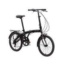Bicicleta Dobrável Eco+ Aro 20 6 Marchas Preta Durban -