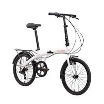 Bicicleta dobrável leve portátil urbana Durban Eco+ com 6 velocidades Shimano e quadro de aço aro 20 -