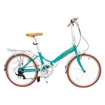 Bicicleta Dobrável Rio XL 24 Turquesa - Durban -