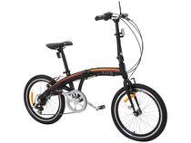 Bicicleta Dobrável Tito To Go Aro 20 7 Marchas  - Câmbio Shimano Quadro Alumínio Freio V-brake