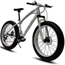 Bicicleta Doobe SBP2640 Aro 26 MTB 21V Freio a Disco - Branca - Gran Mercato