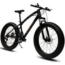 Bicicleta Doobe SBP2640 Aro 26 MTB 21V Freio a Disco - Preta - Gran Mercato