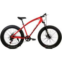 Bicicleta Doobe SBP2640 Aro 26 MTB 21V Freio a Disco - Vermelha - Gran Mercato