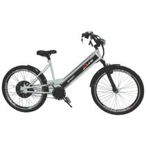 Bicicleta Elétrica 800W 48V 15Ah Sport Prata - Duos