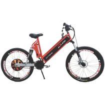 Bicicleta Elétrica 800W Aro 26 Full Suspention EXTREME Vermelha - Duos