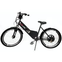 Bicicleta Elétrica 800W com Bateria de Lítio 48V 13Ah Sport Preta - Duos