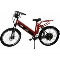 Bicicleta Elétrica com Bateria de Lítio 48V 13Ah Confort FULL Vermelha - Duos
