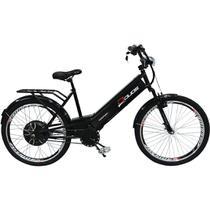 Bicicleta Elétrica com Bateria de Lítio 48V 13Ah Confort Preta - Duos