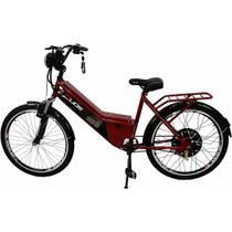 Bicicleta Elétrica com Bateria de Lítio 48V 13Ah Confort Vermelho Cereja - Duos