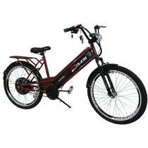Bicicleta Elétrica Confort 800W 48V 15Ah Vermelho Cereja - Duos