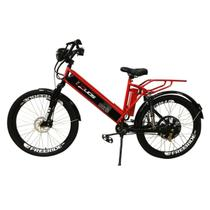 Bicicleta Elétrica Confort FULL 800W 48V 15Ah Cor Vermelha - Duos