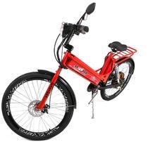 Bicicleta Elétrica Daytona 800W Smart Brasil Aro 26 Com Suspensão e Garupa Cor Vermelha -