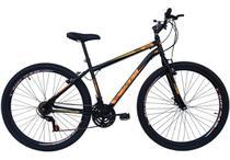 Bicicleta em Aço Carbono Preta Aro 29 18v Marchas Freio V-Brake - Xnova -