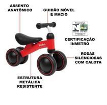 Bicicleta Equilíbrio Andador Sem Pedal Infantil Bebe Criança - Buba