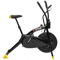 Bicicleta Ergométrica Air Bike A5 Aço Carbono Spinning Kikos Fitness Preto/Amarelo - Kikos Fitness Sk