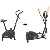 Bicicleta Ergométrica Bp-880 e Eliptico Magnético Polimet - Poli Sports