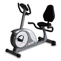 Bicicleta Ergométrica Horizontal KR5 6 Kikos Fitness KW Cinza/Prata -