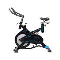 Bicicleta Ergométrica Para Spinning Pro Preta E Azul E17 Acte -