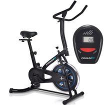 Bicicleta Ergométrica Spinning PodiumFit S100 - Roda 8kg - Silenciosa -