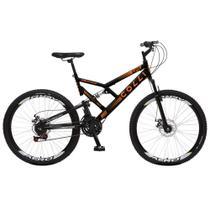 Bicicleta Esportiva Aro 26 Dupla Suspensão Freio a Disco GPS 220 Quadro 18 Aço Preto - Colli Bike -