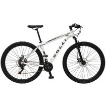 Bicicleta Esportiva Aro 29 Shimano 21 Marcha Suspensão Freio a Disco 531 Quadro 18 Alumínio Branco - Colli Bike -