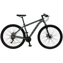 Bicicleta Esportiva Aro 29 Shimano 21 Marcha Suspensão Freio a Disco 531 Quadro 18 Alumínio Verde Militar - Colli Bike -
