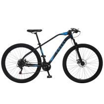 Bicicleta Esportiva Aro 29 Shimano 21V Suspensão Freio a Disco Duster Quadro 17 Alumínio Preto/Azul - Colli Bike -
