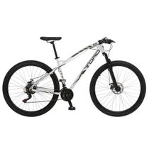 Bicicleta Esportiva Aro 29 Shimano Suspensão Freio a Disco Toro Quadro 18 Alumínio Branco - Colli Bike -
