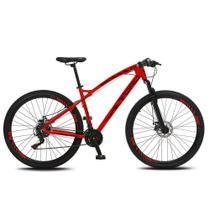 Bicicleta Esportiva Aro 29 Shimano Suspensão Freio a Disco Toro Quadro 18 Alumínio Vermelho Fosco - Colli Bike -