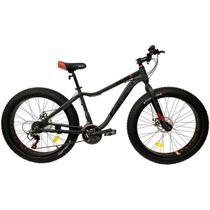 Bicicleta Fat Bike Pneu Largo Aro 26 Alumínio 21V Freio a Disco Cinza - Elleven