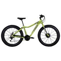 Bicicleta Fat Bike Pneu Largo Aro 26 Alumínio 21V Freio a Disco Verde Oliva - Elleven