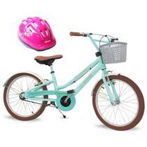 Bicicleta Feminina Aro 20 Antonella Verde Água com Capacete - Nathor