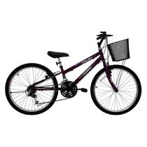 Bicicleta Feminina Aro 24 21 Marchas Bella 310915 - Cairu