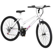 Bicicleta Feminina Aro 26 18 Marchas Aço Branco Pro Tork Ultra - Ultra bikes