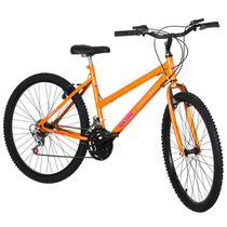 Bicicleta Feminina Aro 26 18 Marchas Aço Laranja Pro Tork Ultra - Ultra Bikes