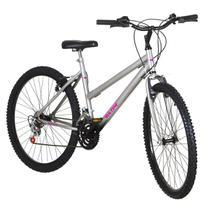 Bicicleta Feminina Aro 26 18 Marchas Cinza Fosco Pro Tork Ultra - Ultra Bikes